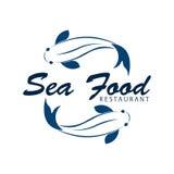 Sea food restaurant and fish. Vector logo. Sea food restaurant and fish. Vector logo Stock Images