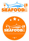 Sea food restaurant  logo Stock Photos