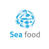 Sea food Restaurants logo vector template Stock Images