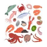 Sea food set. royalty free illustration