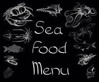 Sea food set menu Royalty Free Stock Image