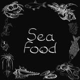 Sea food set menu Stock Image