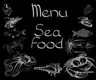 Sea food set menu Royalty Free Stock Photos
