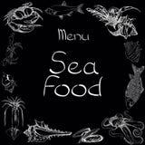 Sea food set menu Royalty Free Stock Photo