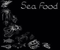 Sea food set menu Royalty Free Stock Photography