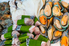 Sea food setup for wedding ceremony Stock Photo