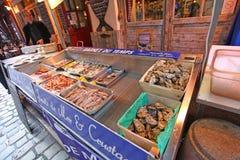 Sea food shop n Lyon, France Royalty Free Stock Photo
