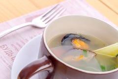 Sea food soup Stock Photo