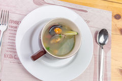 Sea food soup Royalty Free Stock Photography