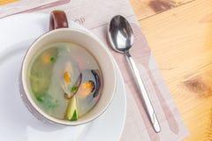Sea food soup Stock Image