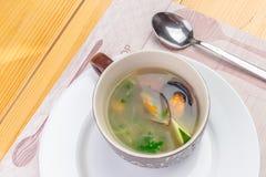 Sea food soup Royalty Free Stock Image
