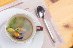 Sea food soup Stock Images