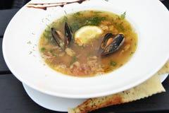 Sea food soup Royalty Free Stock Photos