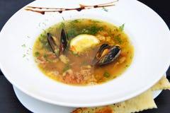 Sea food soup Royalty Free Stock Photo