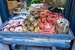 Sea food stall Royalty Free Stock Image