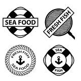 Sea food stamps Stock Photos