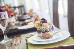 Sea food starter dish Royalty Free Stock Photos