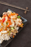 Sea food stir fry Royalty Free Stock Images