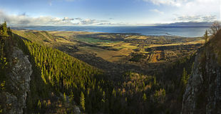 Sea and Forest from St-Joseph mountain view Stock Image