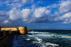 Sea fort in Ortigia. Sicily Royalty Free Stock Photography