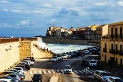 Sea fort street in Ortigia. Sicily Stock Photography