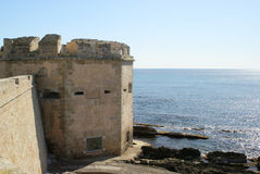 Sea and fortification Royalty Free Stock Photos