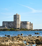 The sea fortress in the bay Royalty Free Stock Photography