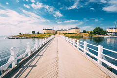 Sea Fortress. Residential Building At Suomenlinna Royalty Free Stock Photo