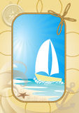 Sea frame Stock Image