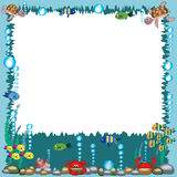 Sea frame royalty free stock photo