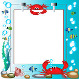Sea frame Royalty Free Stock Images