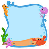 Sea frame vector illustration