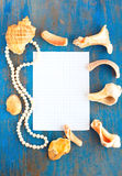 Sea frame and paper for writing Royalty Free Stock Photo