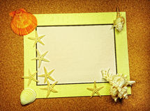 Sea frame with starfishes Stock Photos