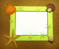 Sea frame with starfishes. Sea frame with some starfishes Royalty Free Stock Photo