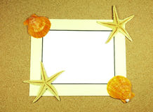 Sea frame with starfishes Royalty Free Stock Photography