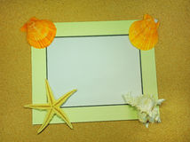 Sea frame with starfishes. Sea frame with some starfishes Stock Photo