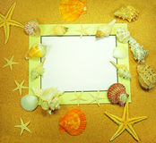 Sea frame with starfishes Stock Images