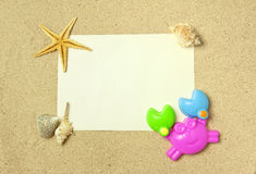 Sea frame with starfishes. Sea frame with some starfishes royalty free stock images
