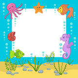 Sea frame. Vector illustration Royalty Free Stock Photography