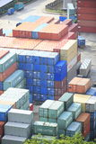 Sea freight containers Royalty Free Stock Photo