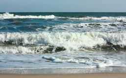 Sea. Frolicking waves Stock Images
