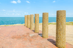 Sea front car park Royalty Free Stock Photography