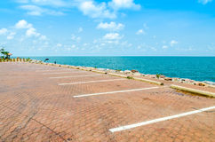 Sea front car park Royalty Free Stock Photos