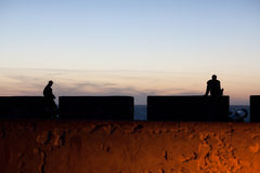 Sea-front of Essaouira Fortress, Morocco Stock Photography