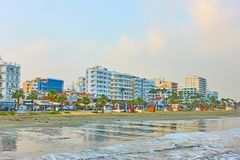 Sea-front with hotels in Larnaca