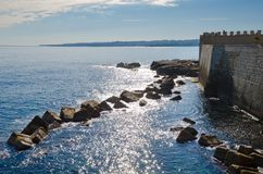 Sea Front at Ortigia, Siracusa stock images