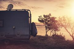 Free Sea Front RV Park Spot Stock Images - 165573424