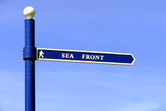 Sea Front sign. Royalty Free Stock Image