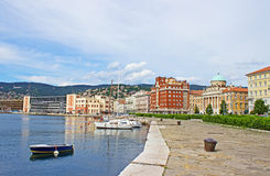 Sea front in Trieste Italy Stock Photo